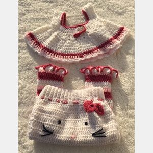 Other - 2 ($10) or 3 ($15) - Hello Kitty handmade outfit